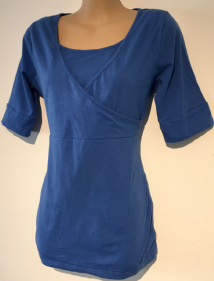 BLOOMING MARVELLOUS MATERNITY NURSING BLUE 3/4 SLEEVE TOP SIZE M 12